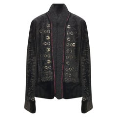 F/W 2008 Gucci Military Style Embellished Fur Jacket for Men