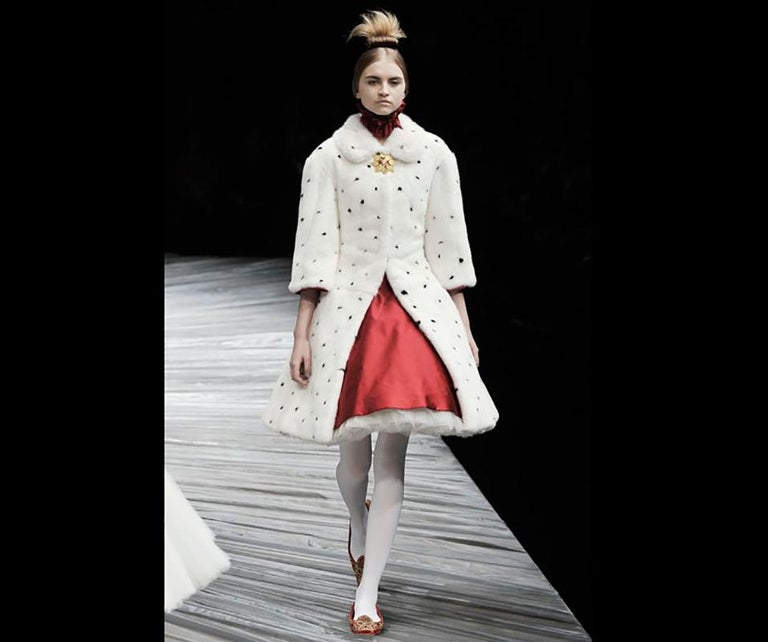 Gray F/W 2008 'The Girl Who Lived in the Tree' Alexander McQueen Runway Fur Coat For Sale