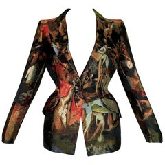 F/W 2010 Alexander McQueen Angels & Demons Tapestry Silk Jacket