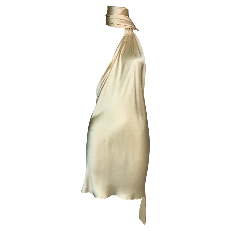 F/W Dolce & Gabbana Runway Ivory Satin Micro Mini Dress