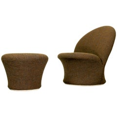 F572 Lounge Chair and mushroom ottoman by Pierre Paulin for Artifort, 1967
