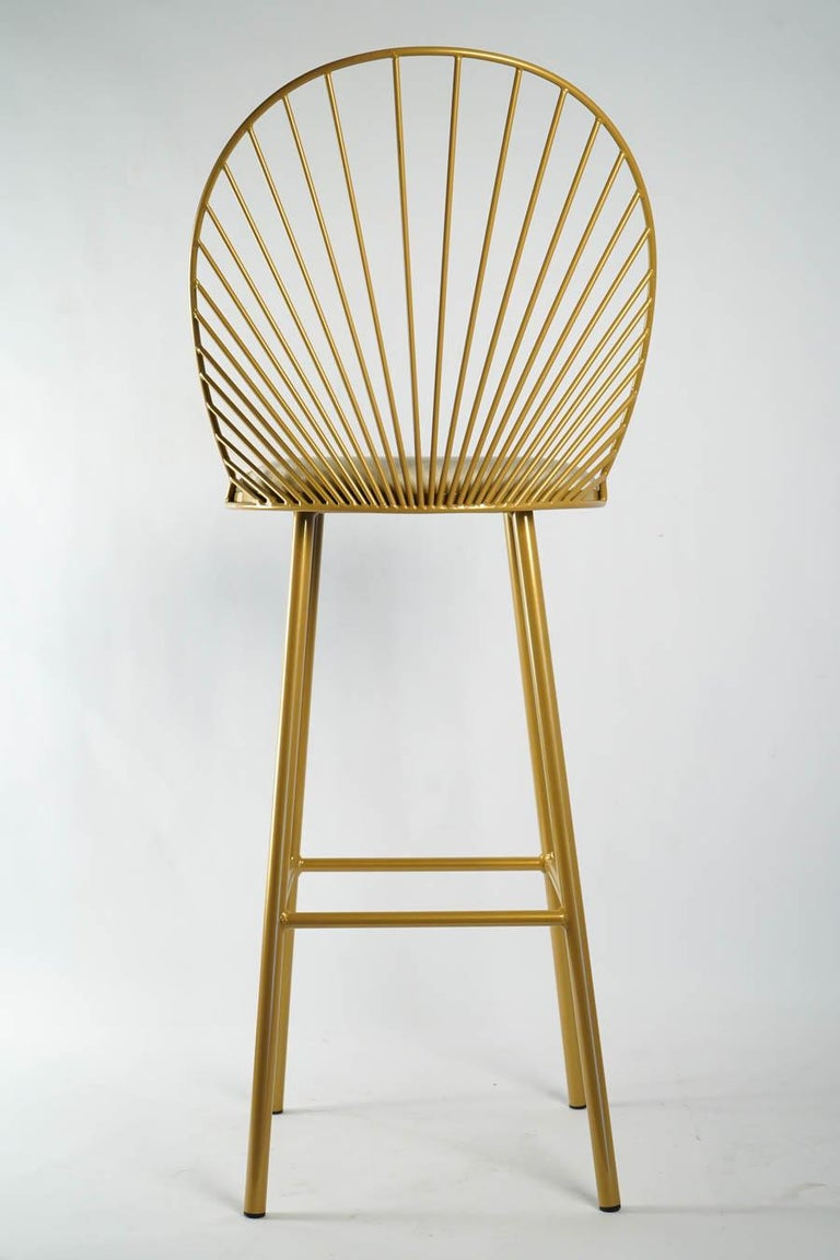 Metal High Chair by Designer Anouchka Potdevin, Contemporary Artist For Sale