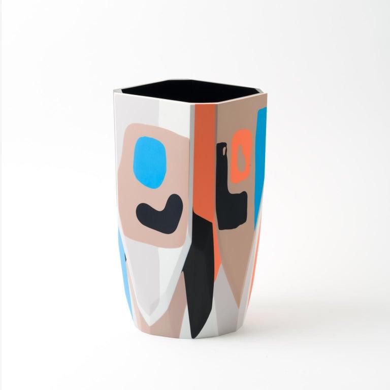 American Unique Contemporary Resin Kalahari Vase For Sale