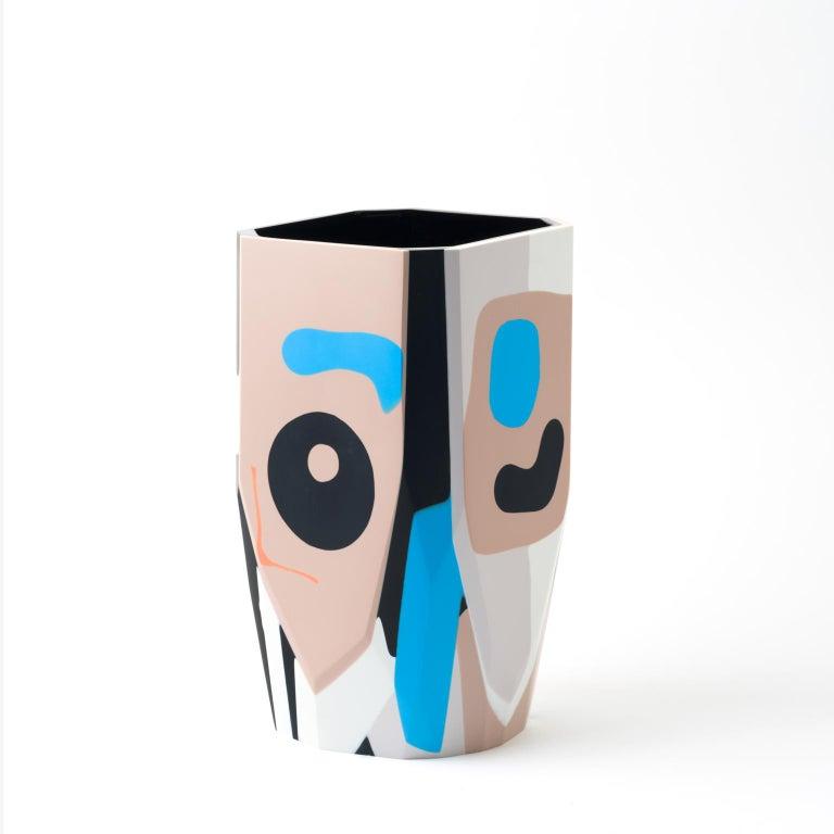 Cast Unique Contemporary Resin Kalahari Vase For Sale