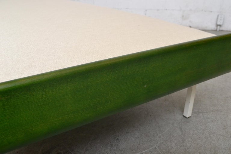 Midcentury Green Teak and Metal Auping Daybed In Good Condition For Sale In Los Angeles, CA