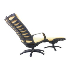 """F.A. Porsche Easy Chair """"Antropovarius"""" with Footstool by for Poltrona Frau"""