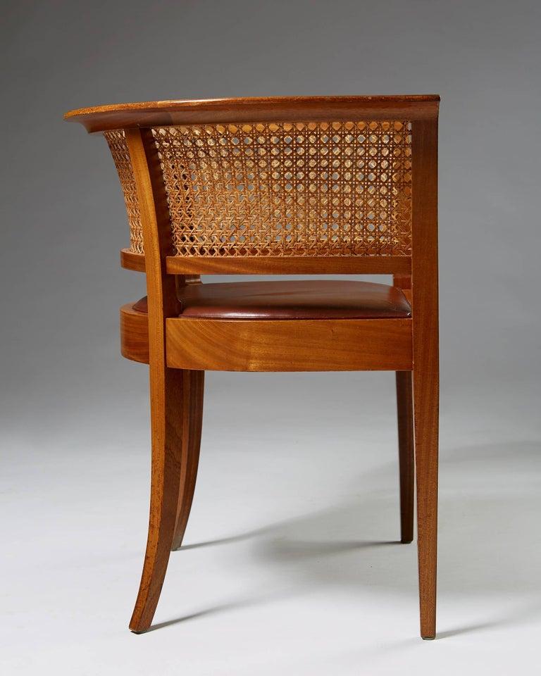 Danish Faaborg Chair Designed by Kaare Klint for Rud. Rasmussen, Denmark, 1914 For Sale