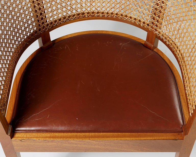 Early 20th Century Faaborg Chair Designed by Kaare Klint for Rud. Rasmussen, Denmark, 1914 For Sale
