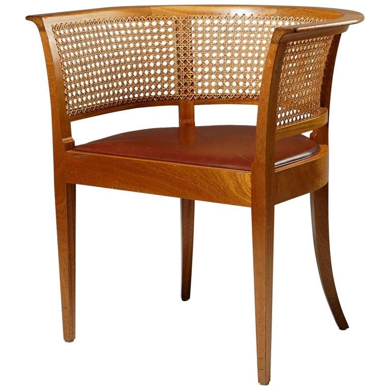 Faaborg Chair Designed by Kaare Klint for Rud. Rasmussen, Denmark, 1914 For Sale