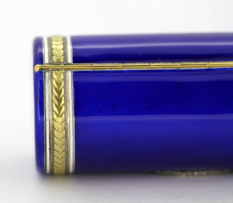 Cigarette Diamond: Fabergé, Russian Silver Gilt And Enamel Cigarette Case