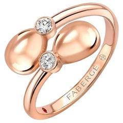 Fabergé Essence Rose Gold Crossover Ring