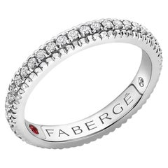 Colours of Love White Gold Diamond Set Fluted Ring