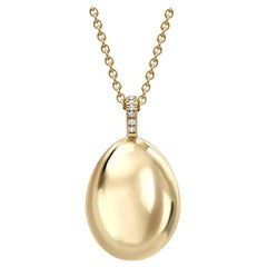 Fabergé Essence Yellow Gold Egg Pendant
