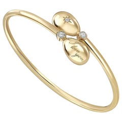 Fabergé Essence Yellow Gold I Love You Crossover Bracelet