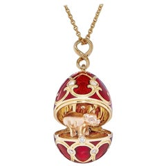 Chinese New Year Limited Edition Palais Tsarskoye Selo Red Locket with Piglet