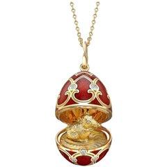 Fabergé Chinese New Year Palais Tsarskoye Selo Yellow Gold Locket, UK Clients