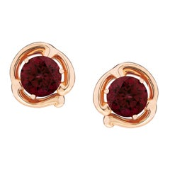Fabergé Collection Rococo Rose Gold with Rhodolite Garnet 4.14 Carat Earrings