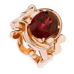 Fabergé Collection Rococo Rose Gold with Rhodolite Garnet 5.93 Carat Ring