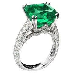 FABERGÉ Collection Three Colors of Love 8.27 Carat Gubelin Cert Emerald Ring