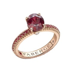 Fabergé Colours of Love Rose Gold Ruby Ring with Ruby Shoulders 831RG1642