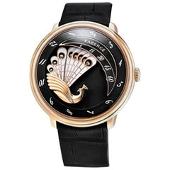 Fabergé Compliquée Black 18 Karat Rose Gold Peacock Watch