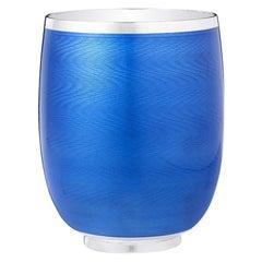 Fabergé Constructivist Royal Blue Guilloché Enamel Water Beaker
