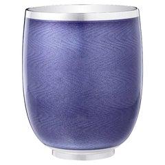 Fabergé Constructivist Violet Guilloché Enamel Water Beaker