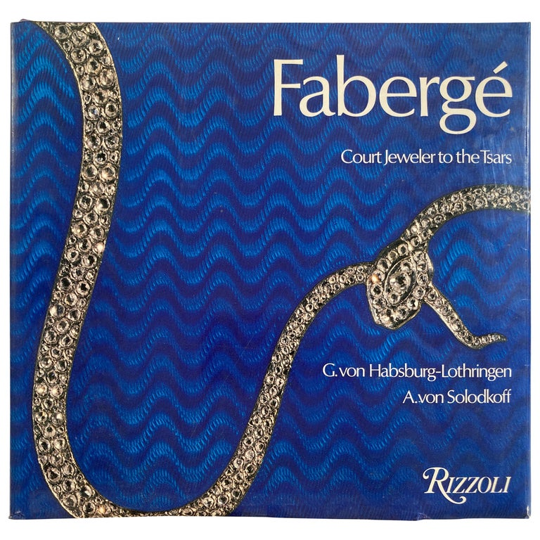 Fabergé Court Jeweler to the Tsars Hardcover Table Book For Sale