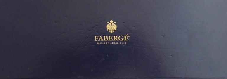 Faberge Easter Egg Charm Bracelet, Gold, Enamel, 0.18 Carat Diamonds, Boxed For Sale 6