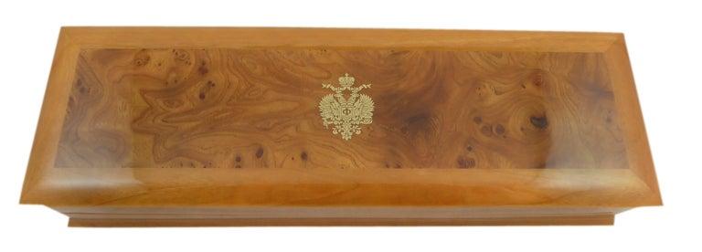Faberge Easter Egg Charm Bracelet, Gold, Enamel, 0.18 Carat Diamonds, Boxed For Sale 10