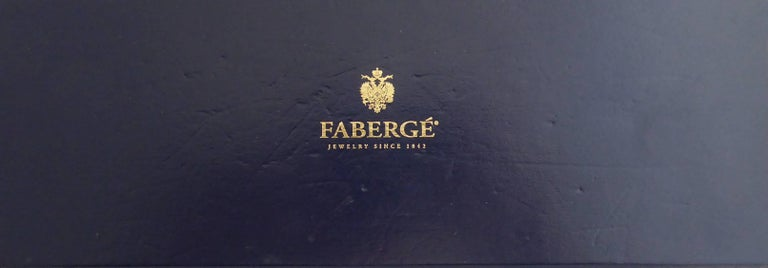 Faberge Easter Egg Charm Bracelet, Gold, Enamel, 0.18 Carat Diamonds, Boxed For Sale 11