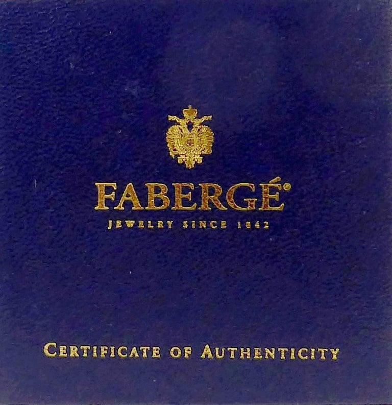 Faberge Easter Egg Charm Bracelet, Gold, Enamel, 0.18 Carat Diamonds, Boxed For Sale 1