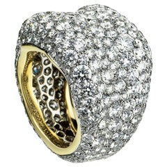 Emotion 18K Yellow & White Gold Diamond Encrusted Chunky Ring