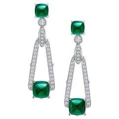 Fabergé Empress Emerald Earrings