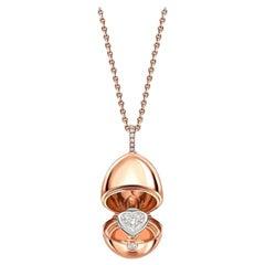 Fabergé Essence Rose Gold Diamond Heart Surprise Locket