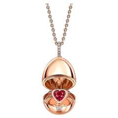 Fabergé Essence Rose Gold Ruby Heart Surprise Locket 1258FP2371