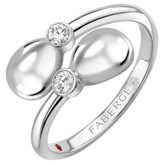 Fabergé Essence White Gold Crossover Ring