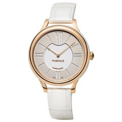 Fabergé Flirt 36mm 18 Karat Rose Gold - White Dial