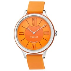 Fabergé Flirt 36mm 18 Karat White Gold - Orange Dial