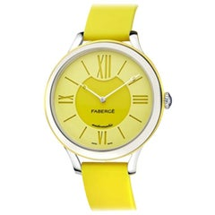 Fabergé Flirt 18 Karat White Gold, Yellow Dial