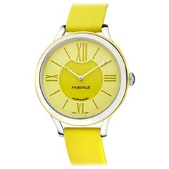 Fabergé Flirt 36mm 18 Karat White Gold - Yellow Dial