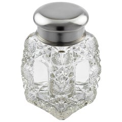 Fabergé Glass Bottle with Silver Lid