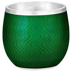 Green Enamel Shot Glass