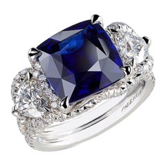 FABERGÉ Collection Three Colors of Love 6.01 Carat Gubelin Cert Sapphire Ring