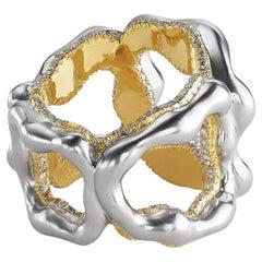 Fabergé Gypsy Platinum & 18K Gold Wide Diamond Ring