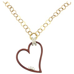 Modern Faberge Heart Necklace F2531AR