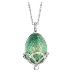 Fabergé Heritage Collection Emaux Olga Apple Green Pendant