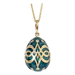 Fabergé Heritage Collection Palais Gatchina Petrol Blue Pendant