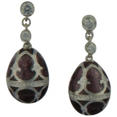 Fabergé Heritage Collection Palais Tsarskoye Selo Soft Prune Earrings