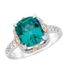FABERGÉ Imperial Collection 2.68 Ct Gubelin Indigo Cushion-Cut Tourmaline Ring